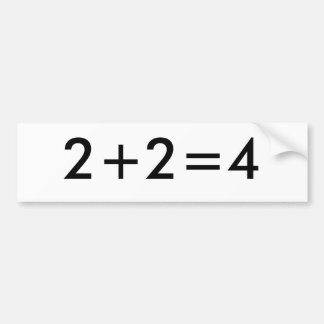 2+2=4 PEGATINA PARA AUTO