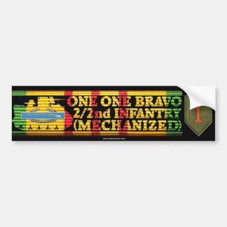 2/2nd Inf. Mech. One One Bravo Bumper Sticker