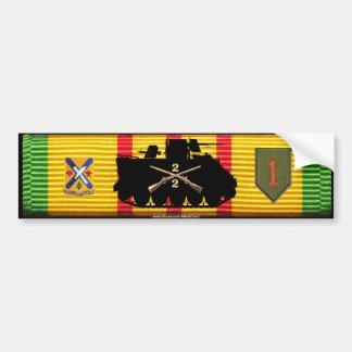 2 2o Los Inf siguen y las insignias VSM Pegatina De Parachoque