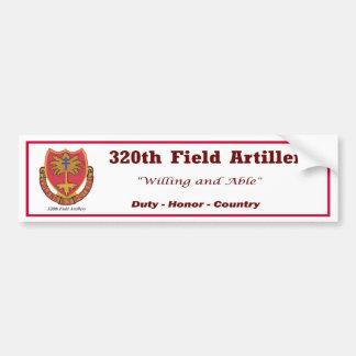 2 320o Pegatina para el parachoques de la artiller Pegatina De Parachoque