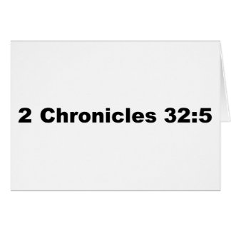 2 32:5 de las crónicas tarjeta de felicitación