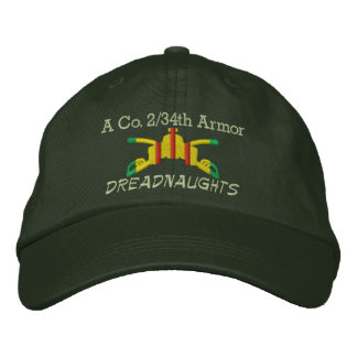 2/34o Gorra bordado rama de la armadura de la arma Gorras De Béisbol Bordadas