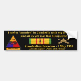 2/34o Vacaciones del camboyano de la armadura Etiqueta De Parachoque