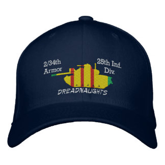 2/34th Armor 25th Inf. Div. M48 Embroidered Hat