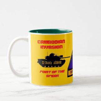 2/34th Armor Cambodian Invasion Black Tank Mug