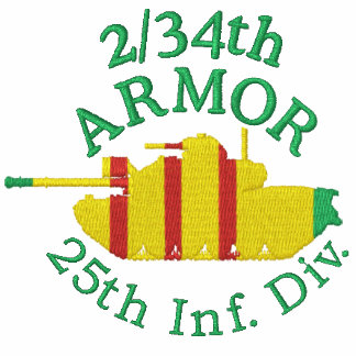 2/34th Armor Vietnam Front & Back Embroidery Shirt