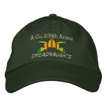 2/34th Armor VSM Armor Branch Embroidered Hat