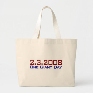 2-3-2008 One Giant Day Large Tote Bag