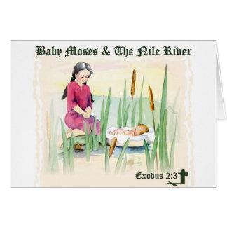 2:3 del éxodo - bebé Moses en el río Nilo Felicitacion