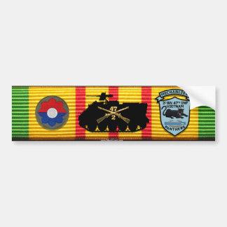 2/47o Inf. Nuevo pegatina de los remiendos M125A1 Etiqueta De Parachoque