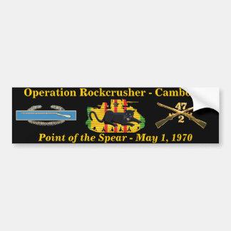 2/47o Operación Rockcrusher Pegatina Para Auto