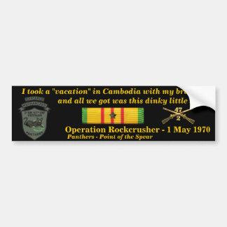 2/47o Vacaciones camboyanas Etiqueta De Parachoque