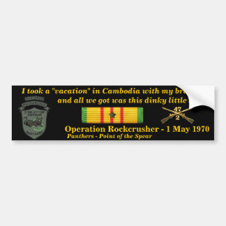 2/47th Cambodian Vacation Car Bumper Sticker