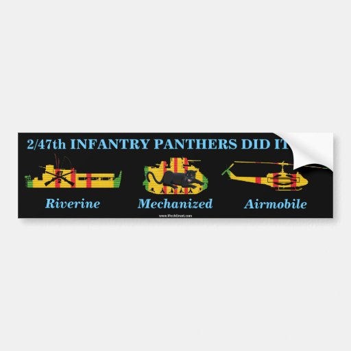 2/47th Inf. Panthers Did It All Car Bumper Sticker