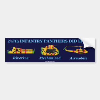 """2/47th Inf. """"Panthers Did It All"""" Sticker Bumper Stickers"""
