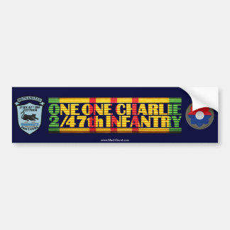 2/47th Inf. Patches One One Charlie Vietnam Car Bumper Sticker