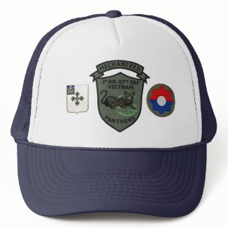 2/47th Infantry Subdued Panthers Patch Cap Hats