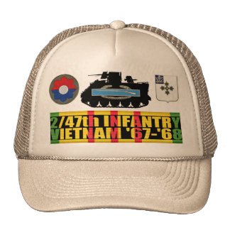 2/47th Infantry Vietnam '67-'68 M113 CIB Hat