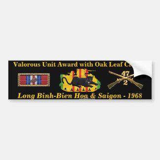 2/47th Valorous Unit Award with Oak Leaf Cluster Car Bumper Sticker