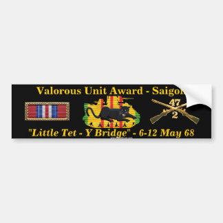 """2/47th Valorous Unit """"Little Tet"""" Car Bumper Sticker"""