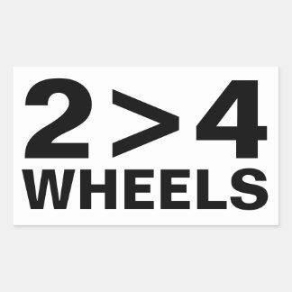 2>4 Wheels Sticker