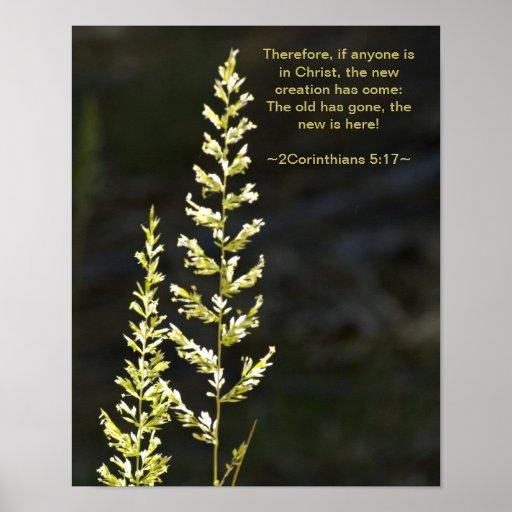 2 5:17 de los Corinthians Poster