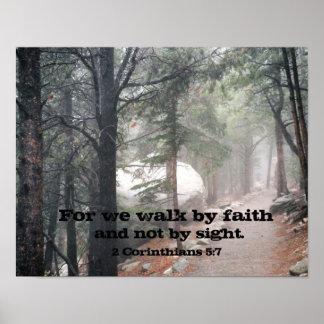 2 5:7 de los Corinthians Posters