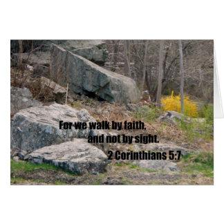 2 5:7 de los Corinthians Tarjeta