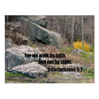 2 5:7 de los Corinthians Tarjetas Postales