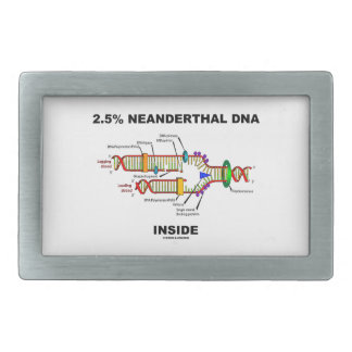 2.5% Neanderthal DNA Inside (DNA Replication) Belt Buckle