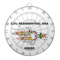 2.5% Neanderthal DNA Inside (DNA Replication) Dartboard With Darts