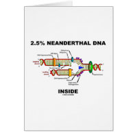 2.5% Neanderthal DNA Inside (DNA Replication) Greeting Card