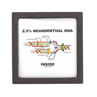 2.5% Neanderthal DNA Inside (DNA Replication) Jewelry Box