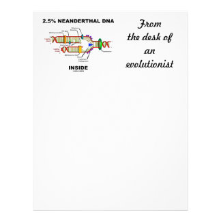 2.5% Neanderthal DNA Inside (DNA Replication) Letterhead