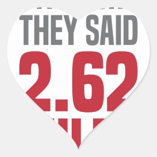 2.62 Miles Heart Sticker