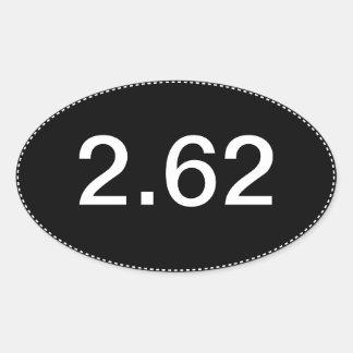 2 62 Pegatina para el parachoques divertida del óv