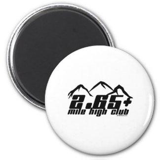 2.65+ Mile High Club 2 Inch Round Magnet