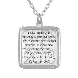 2:6 de Colossians del verso de la biblia de la Colgante Cuadrado