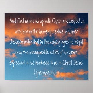2:6 de Ephesians del verso de la biblia - 7 en un  Póster