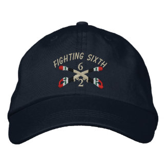 2-6th Cavalry Iraq Crossed Sabers Embroidered Hat