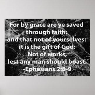 2:8 de Ephesians - 9 Póster