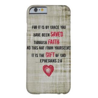 2:8 de Ephesians del verso de la biblia Funda De iPhone 6 Barely There