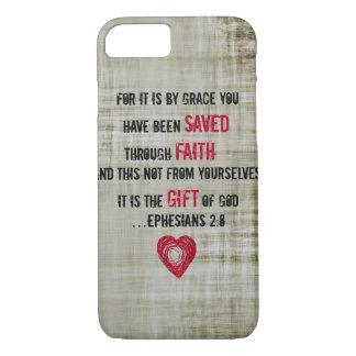 2:8 de Ephesians del verso de la biblia Funda iPhone 7