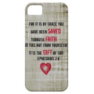 2:8 de Ephesians del verso de la biblia iPhone 5 Fundas