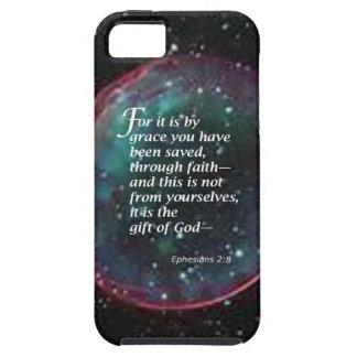 2:8 de Ephesians iPhone 5 Fundas