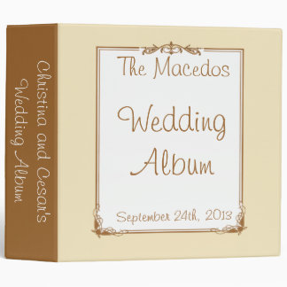 """2.8"""" Photo Binder Just got Married Couple"""