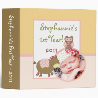 "2.8"" Photo Binder Scrapbook Abby's Farm Pink Girly"