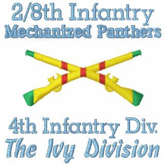 2/8th Inf. 4th ID VSM Crossed Rifles Polo Shirt