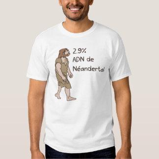 2,9% Francés del Neanderthal Camisas