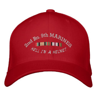 2/9th Mar. Afghanistan & Iraq Campaign Ribbons Hat